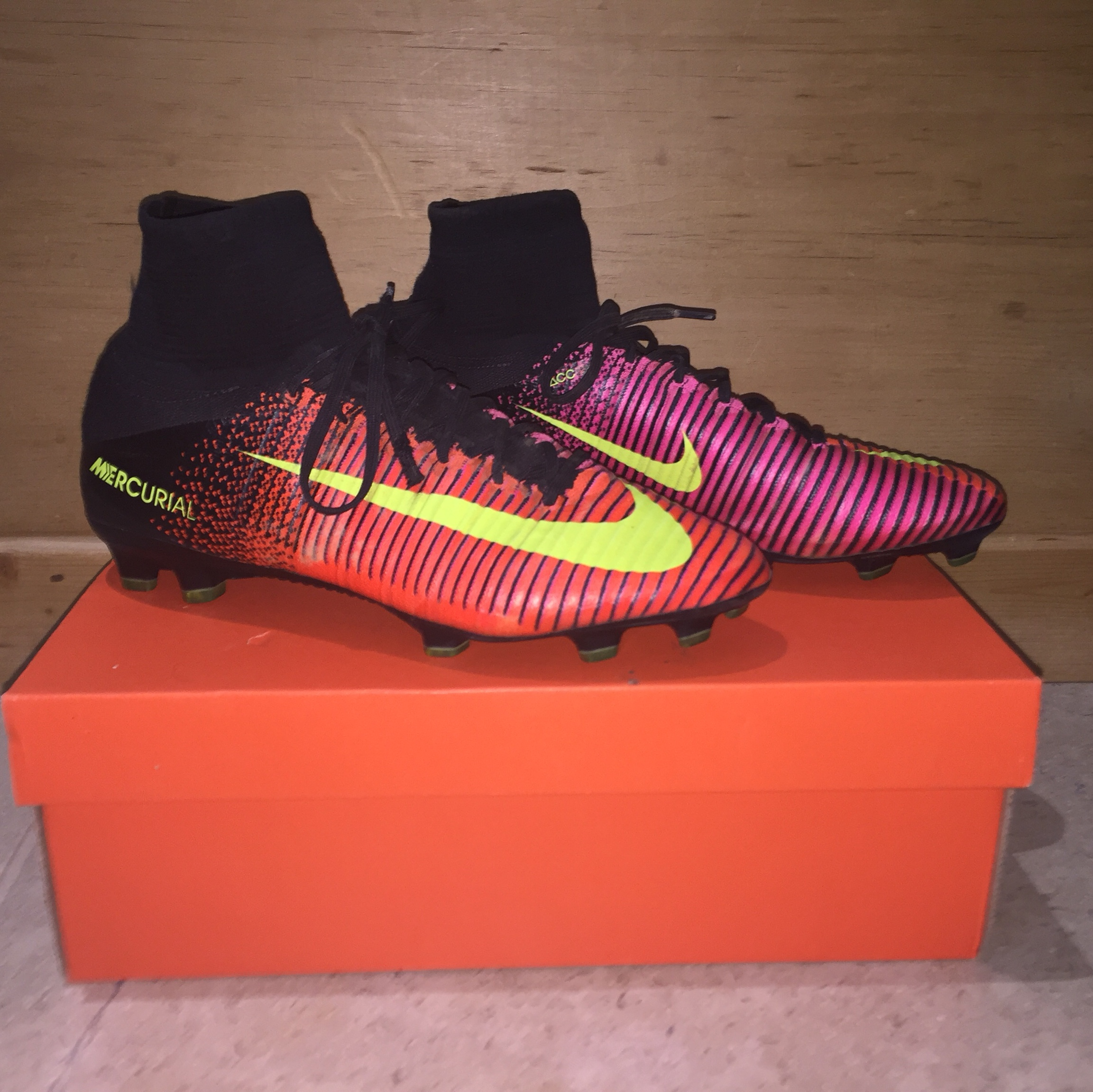 best sneakers 6e65b 0d7f4 Nike Mercurial Superfly V 5 • Red/Pink/Volt Yellow •... - Depop