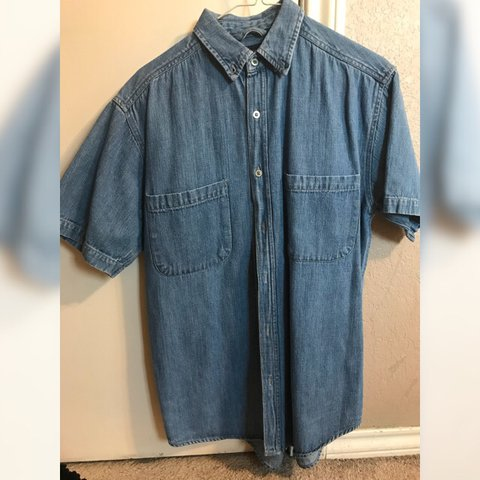 77851f2aea CURRENTLY AVAILABLE Nice denim work shirt perfect for or a - Depop