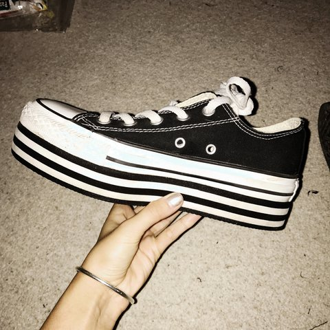RESERVED  All Star Converse Chuck Taylor Double Platform 4 - Depop dbf51f134