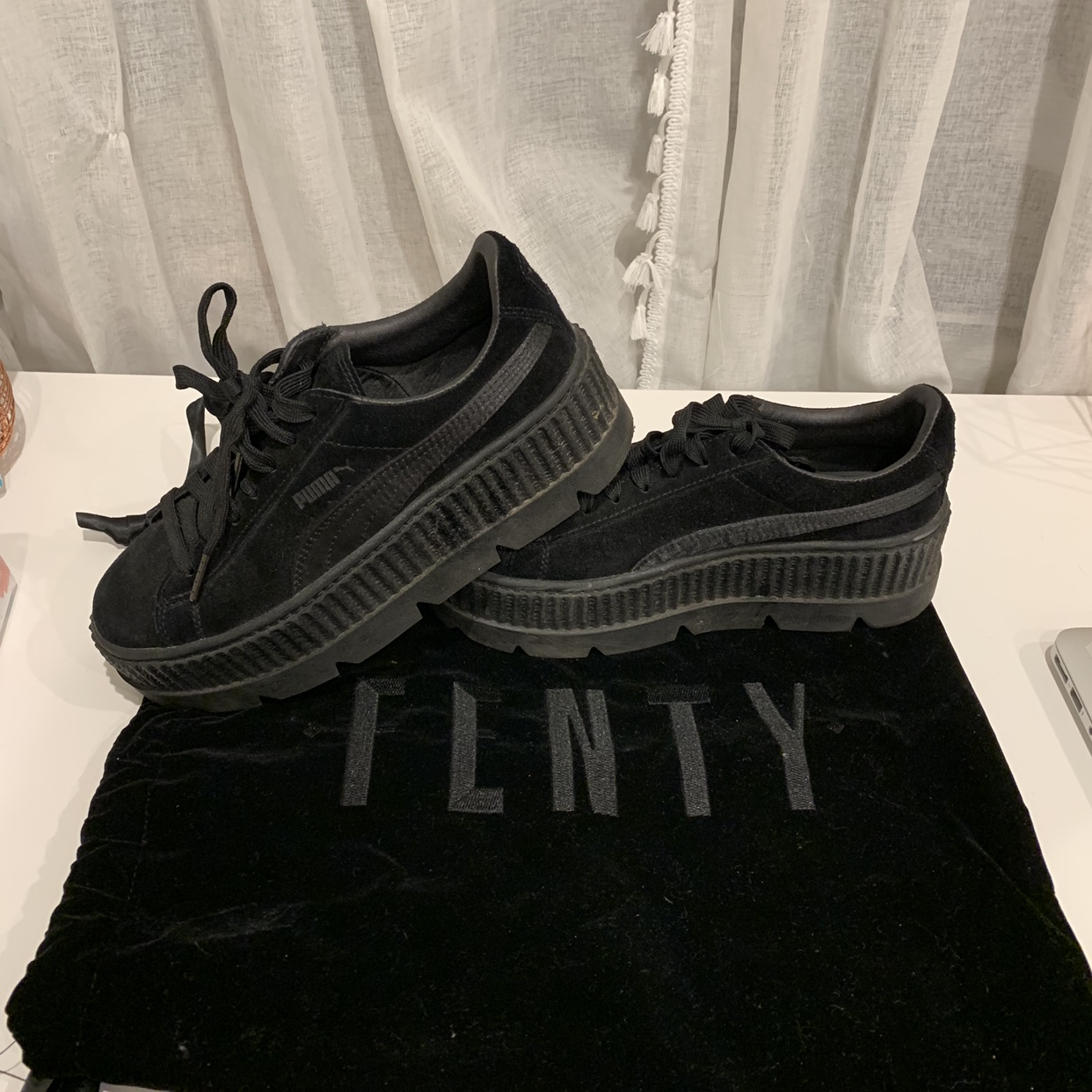 info for b101f 9a579 Fenty by Rihanna Suede Cleated Creeper. Worn twice ...