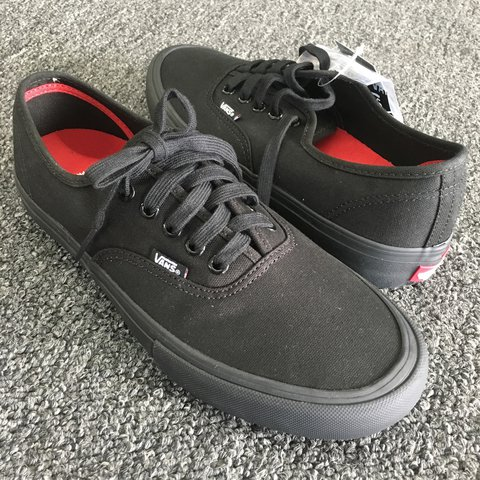 34ed93946228 Vans Authentic Pro skate shoes. Black Black (canvas). with - Depop