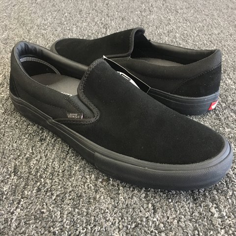 a6f0d189bcb72c Vans slip-on pro. Blackout. Suede canvas. New
