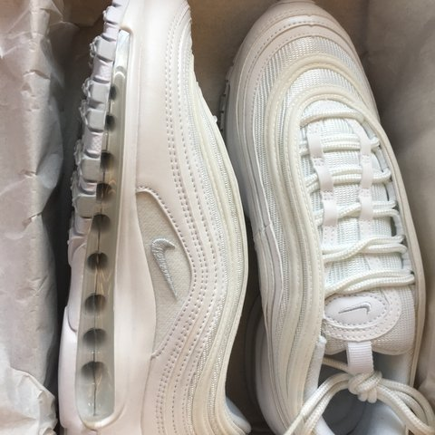f3bf15e97c @hollyziegler. yesterday. London, United Kingdom. Nike Women's triple white  uk 4.5 air max 97