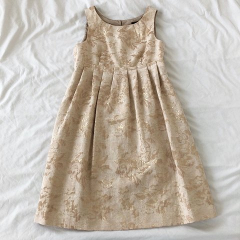 9096de9481b Gold Metallic Brocade Dress ✨ • Brand is Max   Cleo • Orig a - Depop