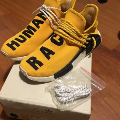 08130971221f 1 1 human race yellow Real boost Comes with box and spear - Depop