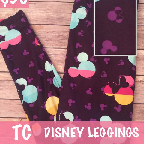 291b2e6c8e18c8 @roewithrinna. last year. Goleta, United States. LuLaRoe collection for  Disney tall and curvy leggings featuring Mickey and Minnie Mouse.
