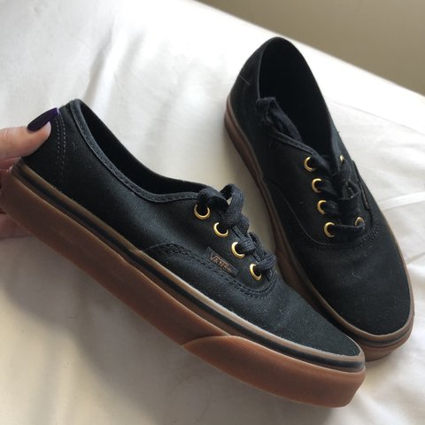 45d6de7eaca87e Brand new vans Really cool with gold accents Skater vibes - Depop