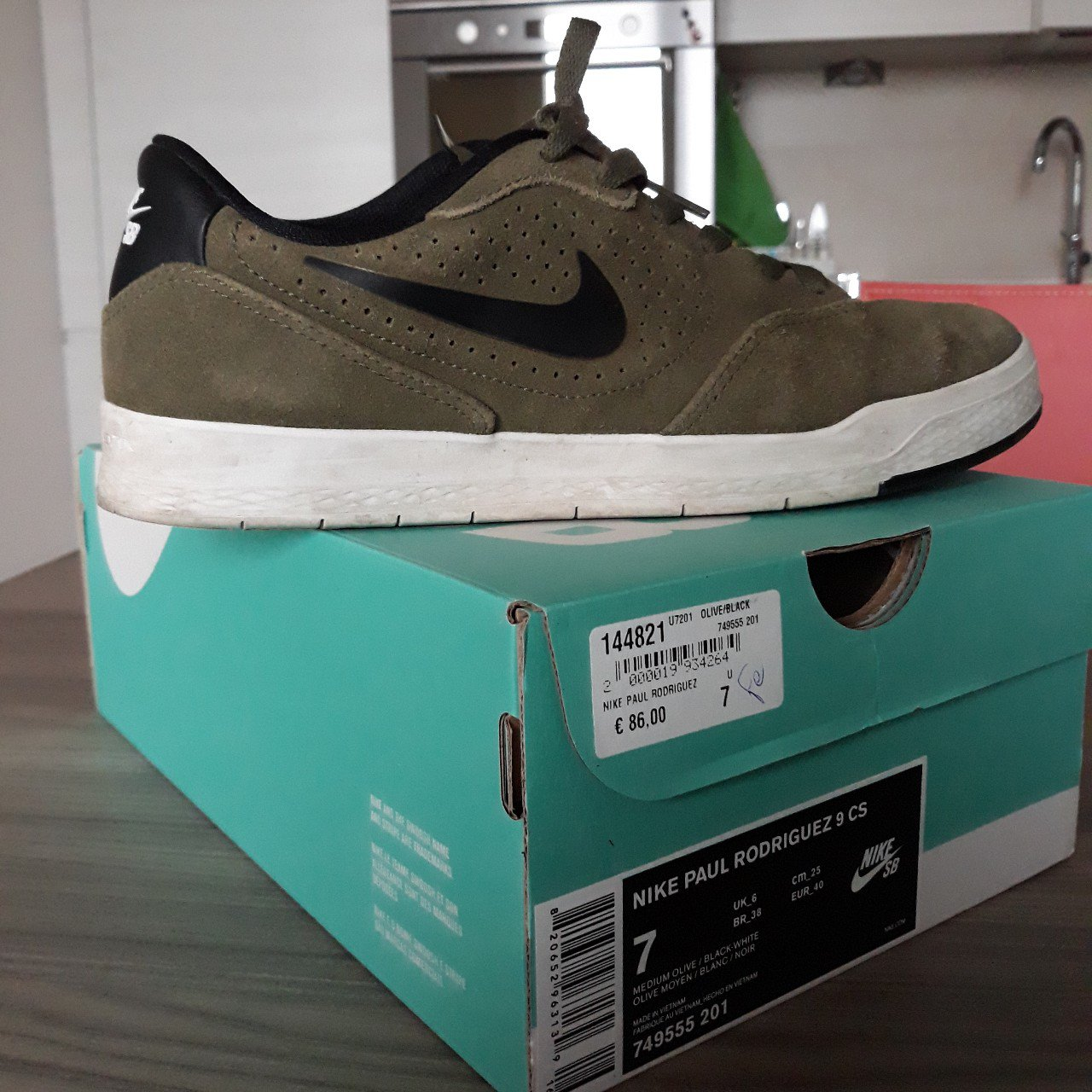 ea4c09aa504643 Nike Paul rodriguez 9 Cs. Color oliva militare