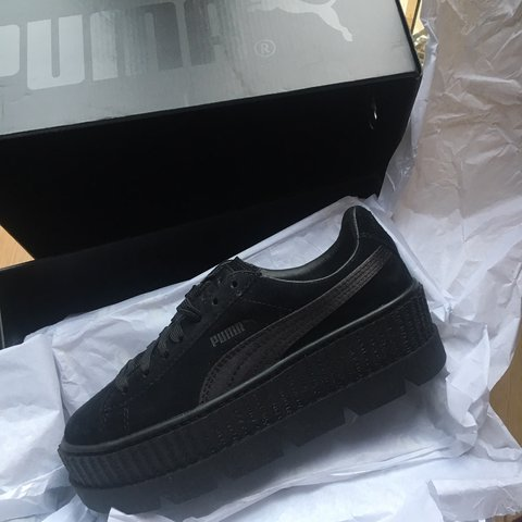 5b50d40649bfd FENTY X PUMA BLACK PLATFORM CREEPERS SUEDE . Size 36. NEVER - Depop