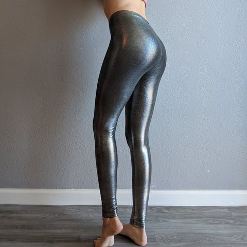 8600329b78de7 @feralaries. 2 months ago. Tempe, Arizona, US. American Apparel shiny metallic  high waisted leggings