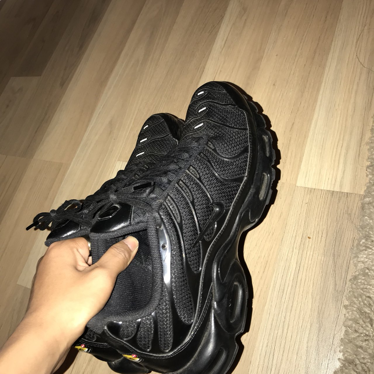 Nike Tns - Triple blacks Size 11 Condition 9 10 only worn a - Depop 396d4c989