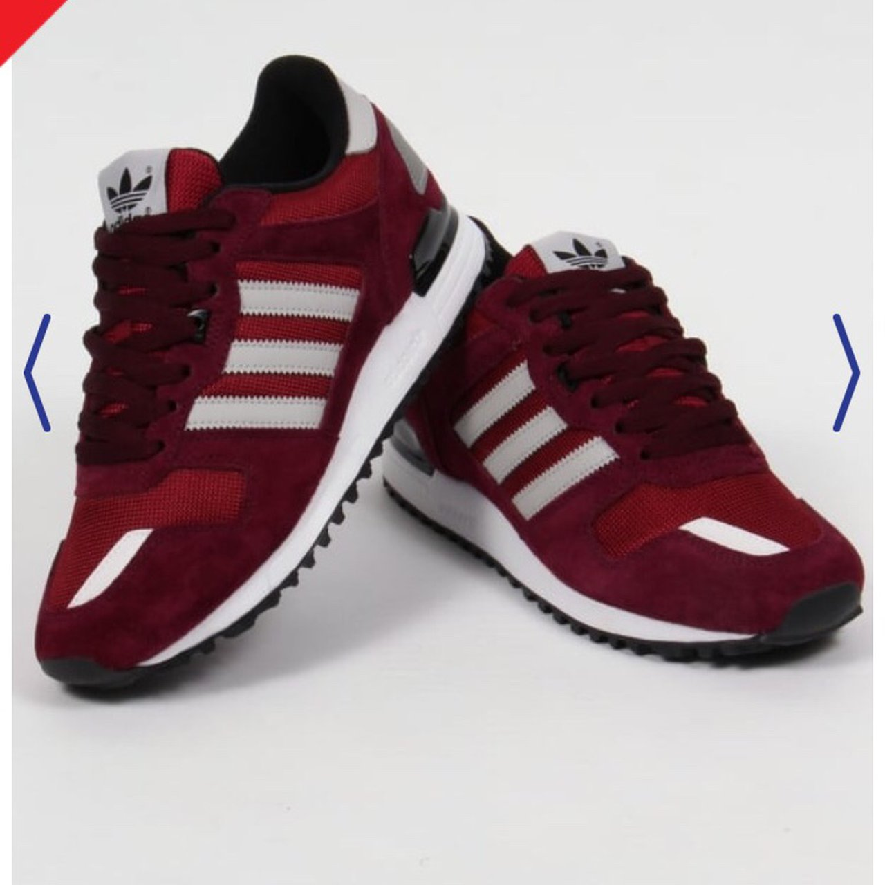 70bfe1e07ffbf ADIDAS ZX 700 OLD SCHOOL TRAINERS BURGUNDY Perfect condition - Depop