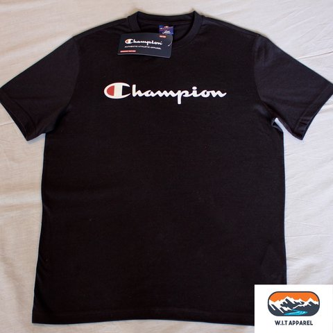 4fb4a470c Champion Classic Retro T-Shirt, Dark Navy Blue -Brand New - Depop