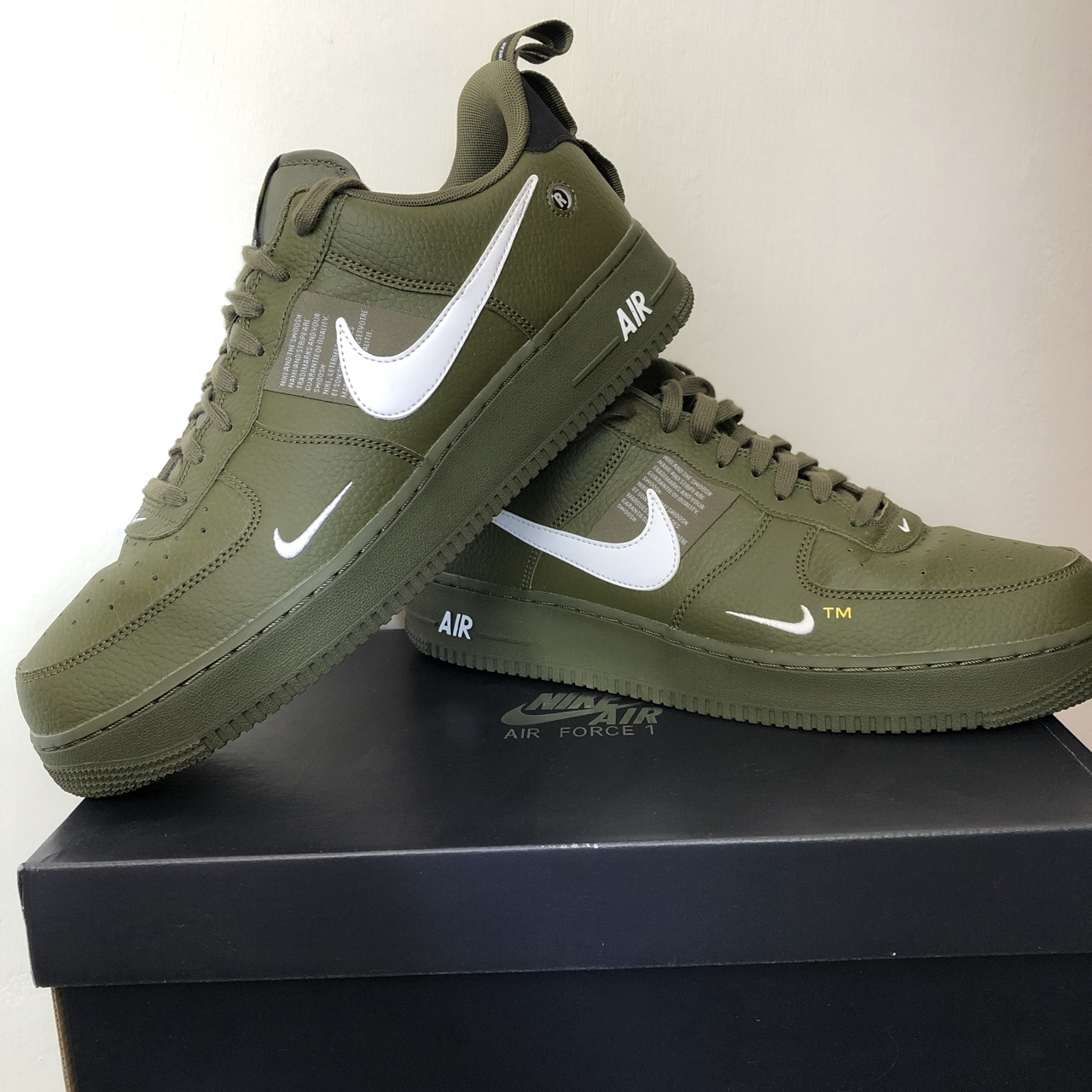 Nike Air Force 1 Utility/Olive Green/Mens Size... - Depop