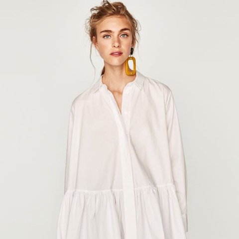 dress' 'the white mini premium Zara poplin dress collectionDepop yn0mNwv8O
