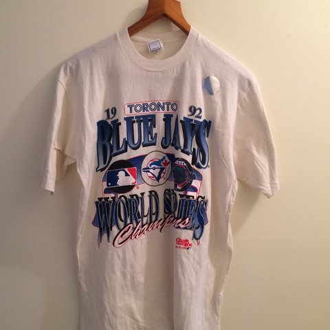 bdcf335140739 Toronto Blue Jays World Series shirt. Thee is a small hole - Depop