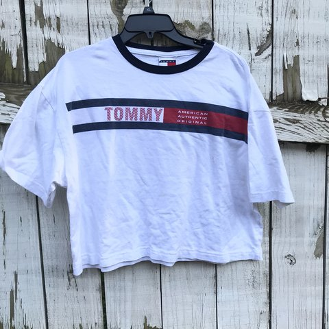 275326a30b5f1 Vintage Tommy Hilfiger crop top Has some stains on the No - Depop