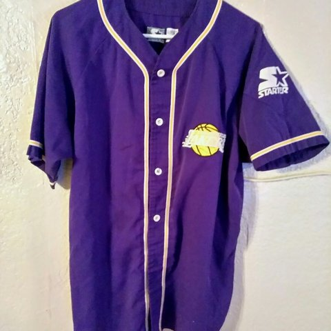 db851c1a083 @truimph81. 5 months ago. Modesto, Stanislaus County, United States. Vintage  Starter La Lakers Baseball Jersey Medium
