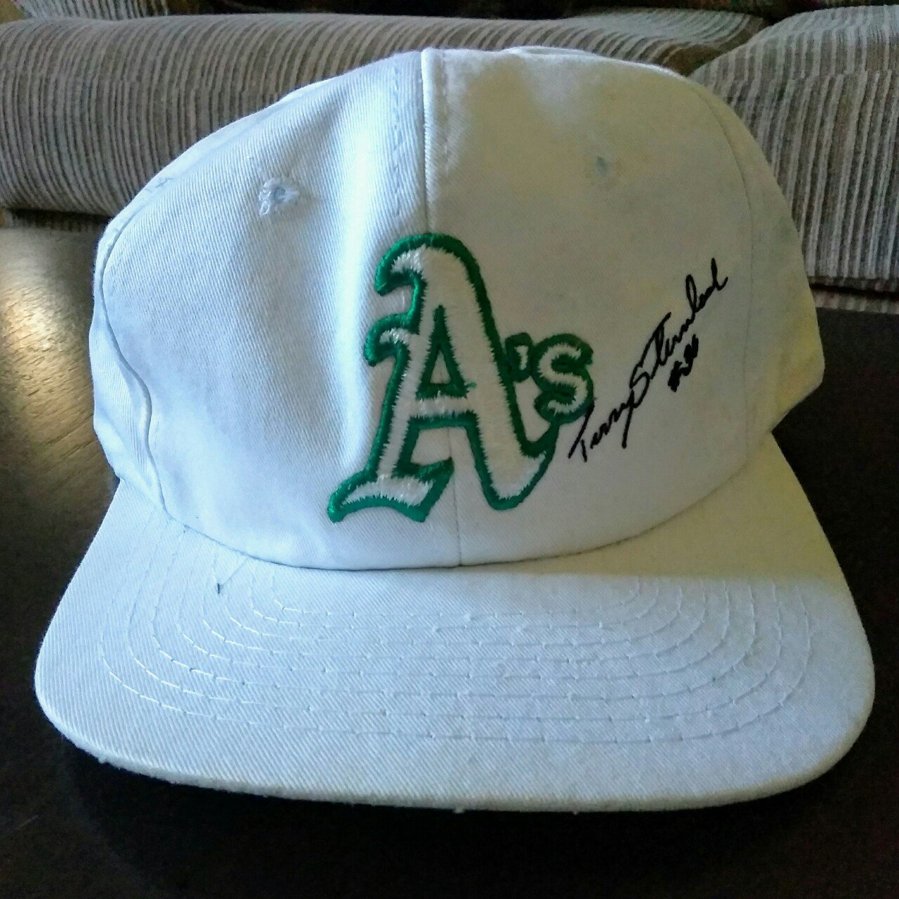 aa26656b4e1 Vintage Oakland A s Terry Steinbach Snapback Extremely with - Depop