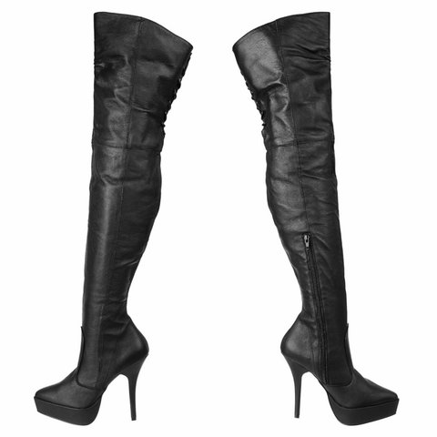 2d479738016 Indulge leather thigh high boots with 5
