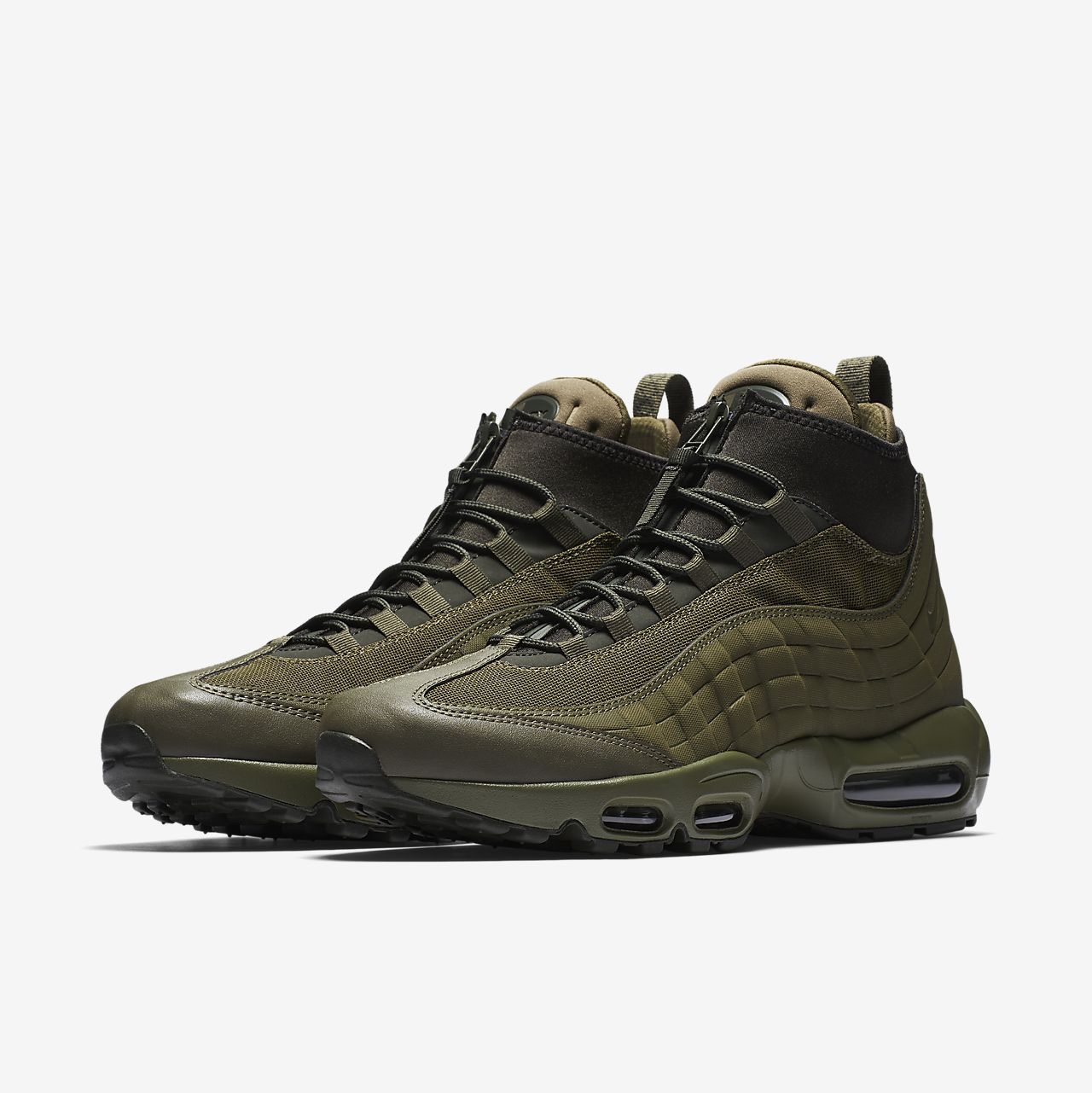 innovative design c385b cec73 Nike Air Max 95 Sneakerboot Green/Olive New. Fresh... - Depop
