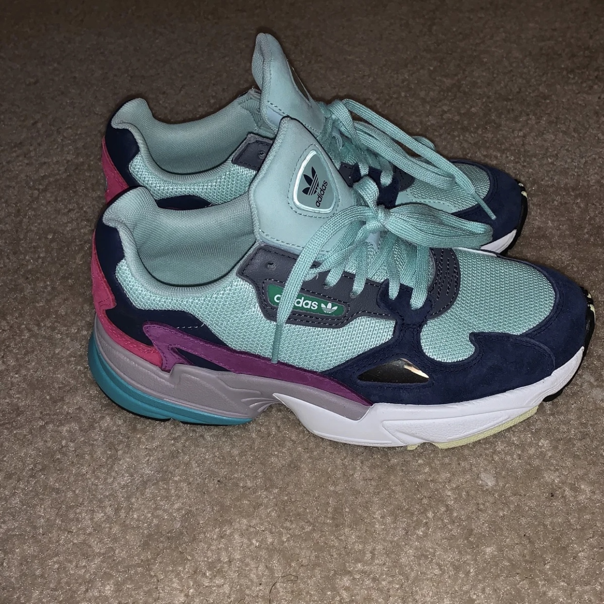 finest selection 784ab f6676 Brand New Tag Attached Adidas Falcon x Kylie Jenner... - Depop