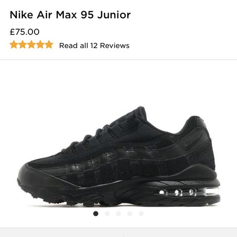 04c7bc6fdd BLACK NIKE 95'S♥ ♥ ♥ BARELEY EVER WORN WITH BOX BOUGHT FOR ...
