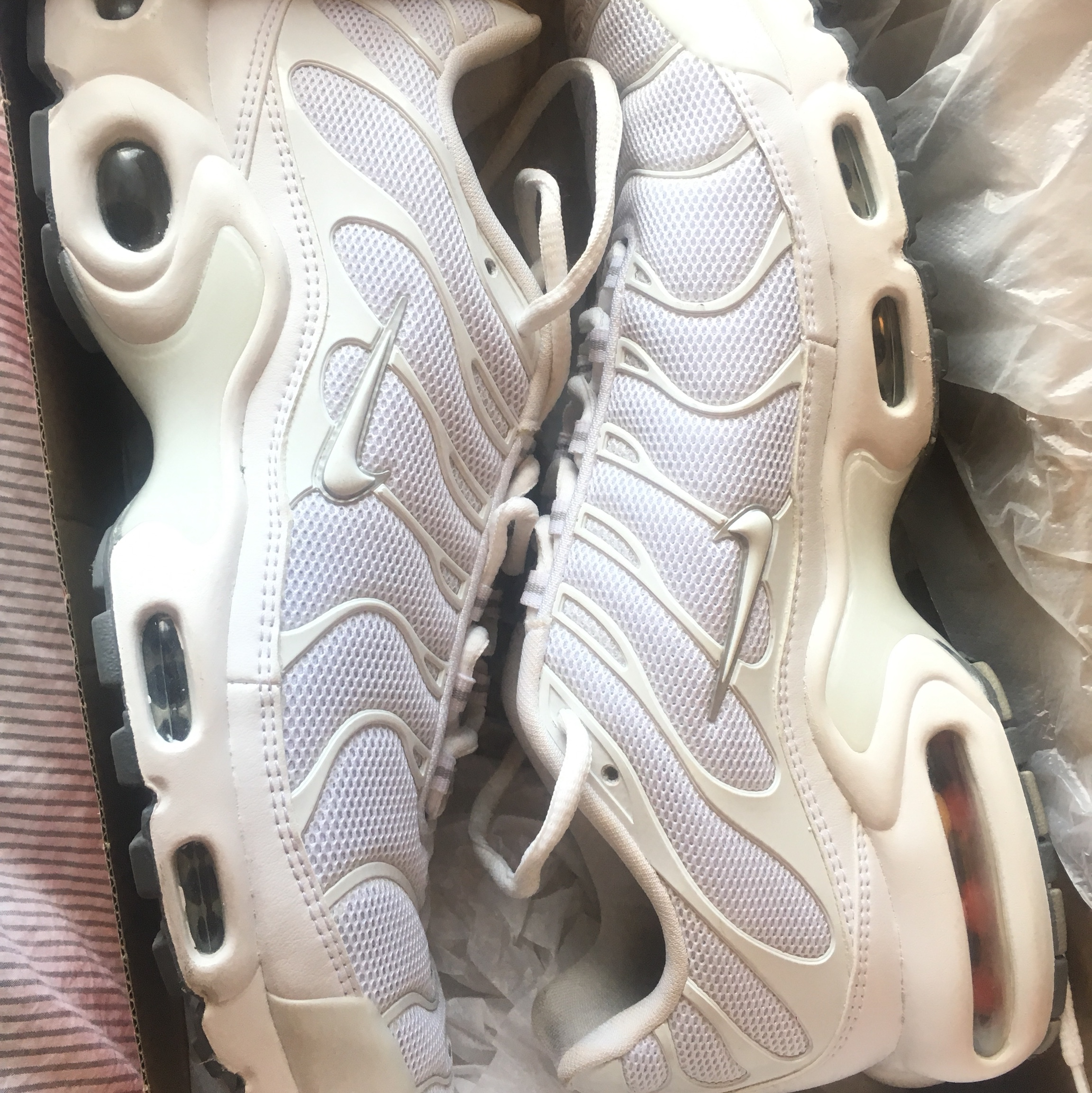 on sale bf933 063f4 MENS WHITE NIKE TNS - NEVER WORN OUT - #nike #tns... - Depop