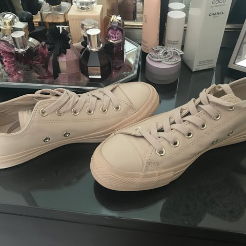 5be406589f1a8a Converse All Star Low in Ivory Cream Leather Exclusive with - Depop