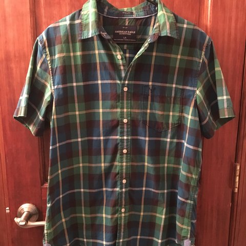 c0285891d2 @stineyyyx3. 2 months ago. New York, United States. American Eagle Men's  Plaid Button-Down Shirt.