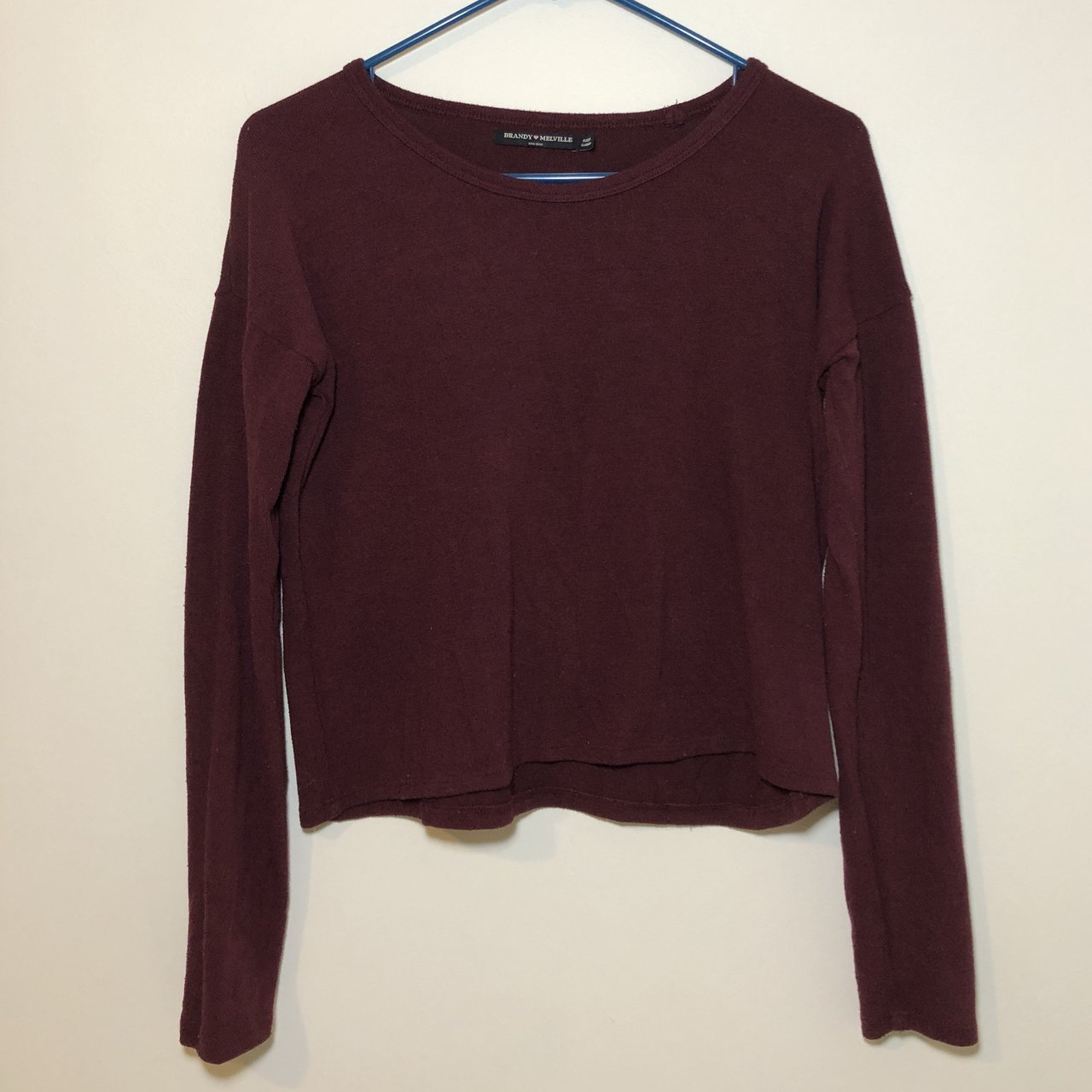 7f3beace8e432 Super soft brandy melville maroon sweater. Relaxed fit but - Depop