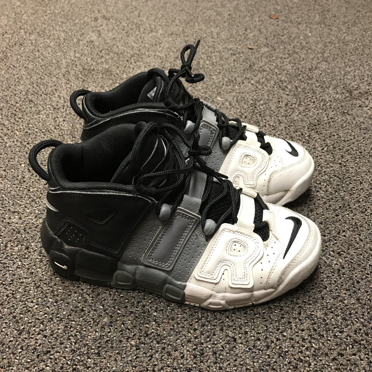 """the latest 57878 f3568  chuidiren. 2 months ago. Pasadena, United States. Nike air more uptempo """" tri-color"""""""