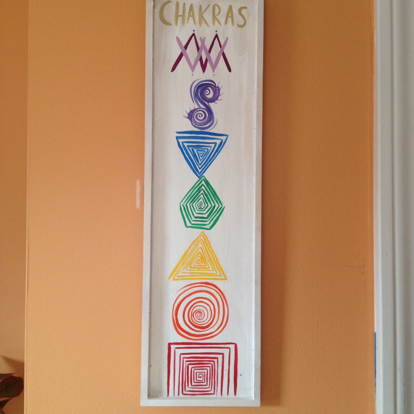 Chakras Wall Art 17 5x5inches Acrylic On Wood Depop