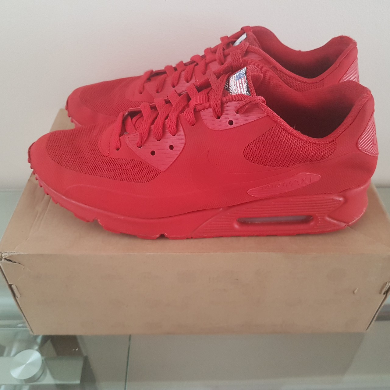Nike Air Max 90 Hyperfuse Independence Day triple Depop