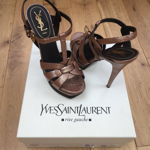 1abf22878e0 REDUCED*** Basically brand new YSL tribute sandals only - Depop