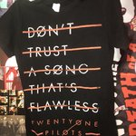 1c215fbf0 Old Twenty One Pilots T-shirt design Print is faded but the - Depop