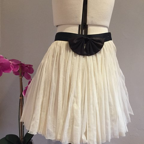 38ab37479b87 NOT FOR SALE YET Princess skirt with black now detail and 6 - Depop