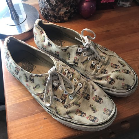 b7e209ebd2 Men s VANS pineapple skull skate shoes size 11 Signs of but - Depop