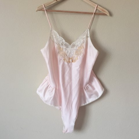 a335ede108 SALE - Vintage CHRISTIAN DIOR Baby Pink Satin Teddy 🕊 in on - Depop