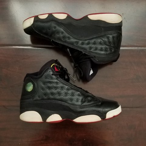 e9efb7f51a3f Jordans 13s play offs black   red   great condition   worn a - Depop