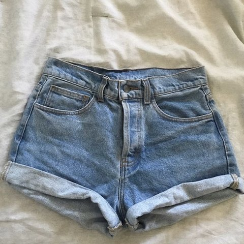 5f613a77b6 @mia_cernetic. 5 months ago. Phoenix, United States. Repop! Brandy Melville  Denim Shorts! Size medium and would best fit ...