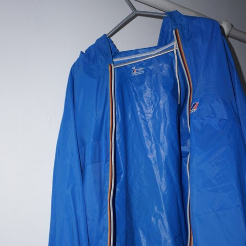 4eda784bf23d K-way Blue vintage 90s raincoat windbreaker unisex coats