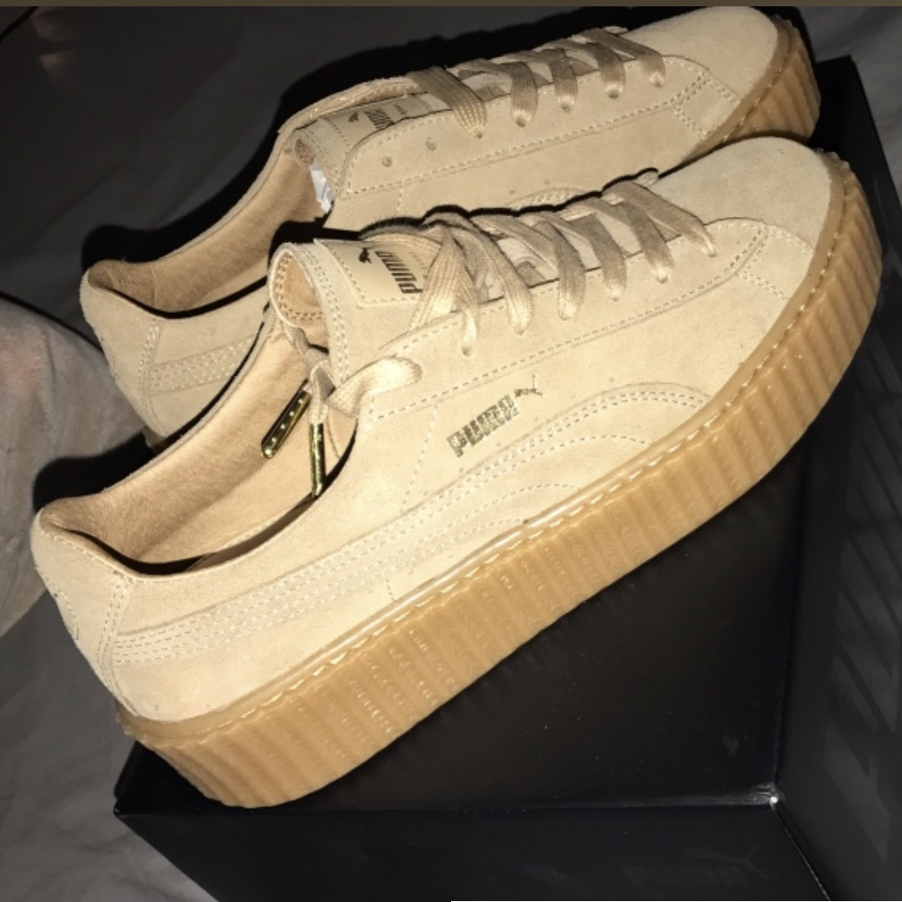 official photos b6339 a7782 FENTY Puma Creepers by Rihanna Tan — US women size 9... - Depop