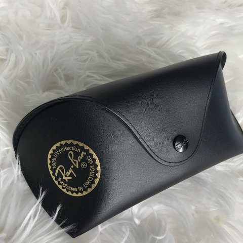 ea28961a837647 Ray ban black glasses case. For reference model is 5 1 in - Depop