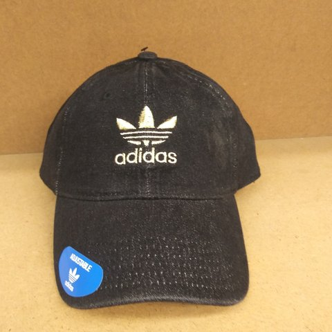 ca82905414690 ... shop adidas black denim gold tri foil hat gold stiching depop 915da  483da