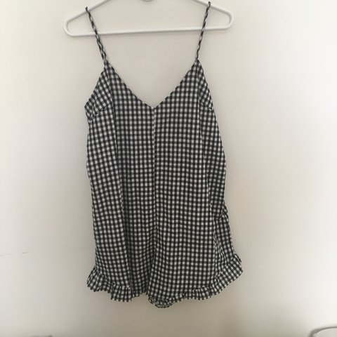 d7bb31de35 cutest black and white gingham romper!!◼ ◻ purchased on a a - Depop