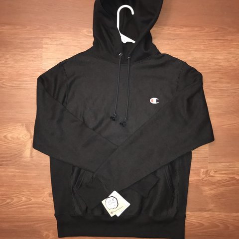 0e4d25a409880 Champion reverse weave black hoodie. Brand new w tags and - Depop