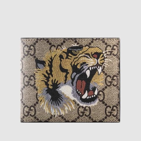 fd0f97de9669 Gucci GG print tiger wallet, comes with original box, is me - Depop