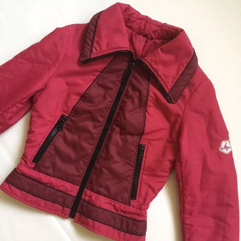 Women s vintage 80s red ski jacket from hasegg boutique in - - Depop f133d408c