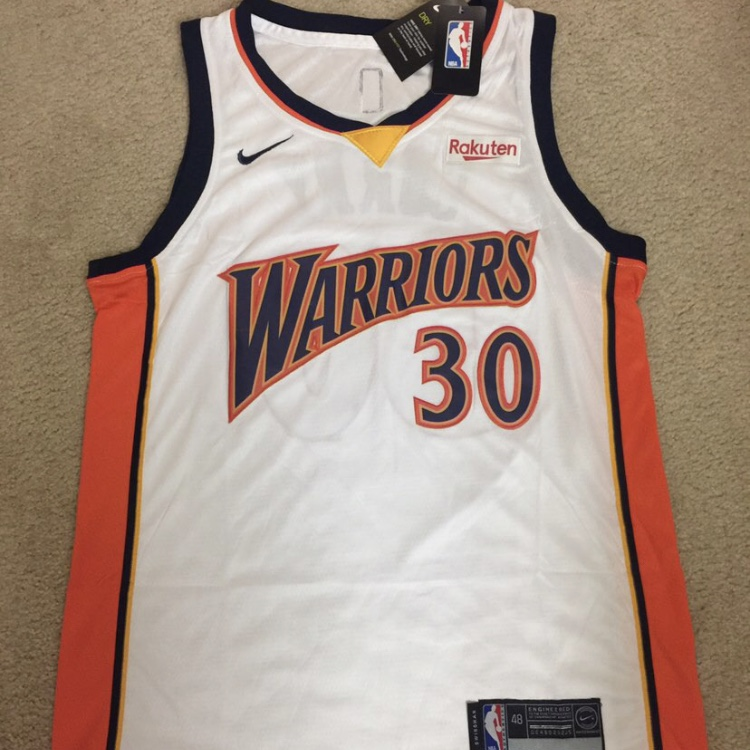 huge selection of 924b9 ab0ff Retro Steph Curry Warriors Jersey - Used in the last... - Depop